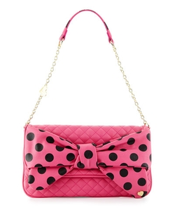 Betsey Johnson - Dots Enough Bow Quilted Shoulder Bag