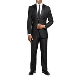 Yves Saint Laurent - Wool Single Button Tuxedo Suit