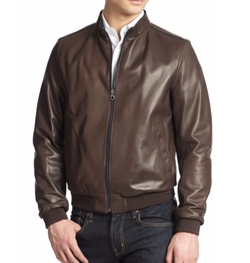 Salvatore Ferragamo - Reversible Leather Bomber Jacket