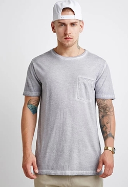 21 Men - Faded Pocket Tee Shirt