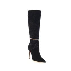 Monique Lhuiller - Velvet Knee High Boots