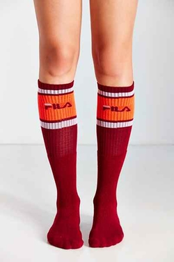 FILA  - Colorblock Knee-High Sock