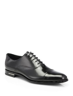 Prada  - Spazzolato Captoe Oxfords Shoes