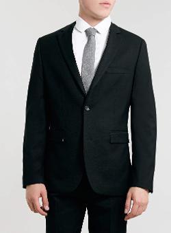 Topman - Black Slim Suit Jacket