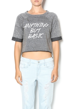Mink Pink - Basic Graphic Crop Tee