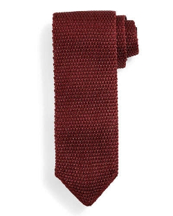 Tom Ford	  - Thin-Striped Knit Tie