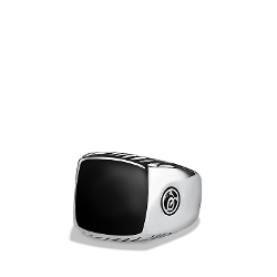 David Yurman - Exotic Stone Large Band Ring with Black Onyx