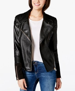 XOXO - Faux-Leather Moto Jacket
