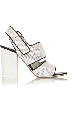 Alexander Wang  - Sara Mesh Effect Leather Sandals