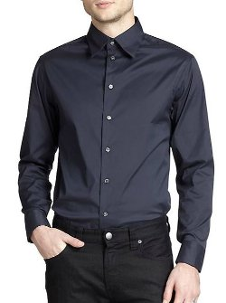 Armani Collezioni  - Solid Stretch Sportshirt
