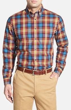 Maker & Company - Tailored Fit Plaid Sport Shirt