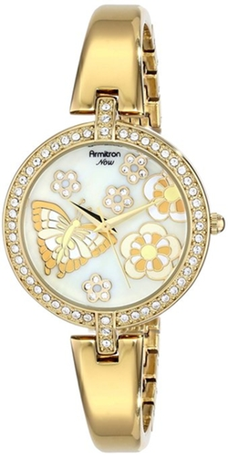 Armitron - Swarovski Crystal Gold-Tone Bangle Watch
