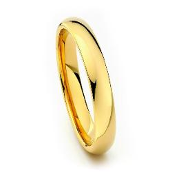 The World Jewelry Center - Mm Cobalt Free Tungsten Carbide Gold Pated Comfort-fit Wedding Band Ring