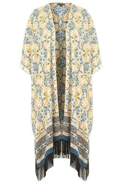 Topshop - Printed Blanket Kimono