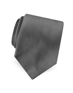Forzieri - Solid Pure Silk Satin Tie