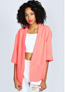 Aisha - Short Sleeve Loose Fit Blazer