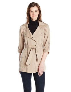 Vince Camuto - Soft Double Breasted Trench Coat