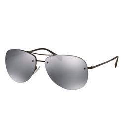 Prada  - Rimless Metal Aviator Sunglasses