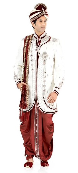 Rajwadi - Splendorous Jacquard Fabric Sherwani