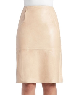 French Connection - Rocker Leather Pencil Skirt