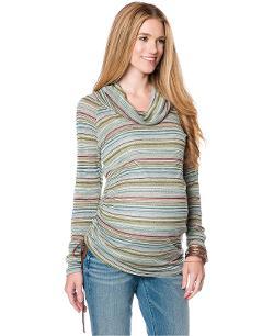 Jessica Simpson  - Maternity Striped Cowl-Neck Sweater