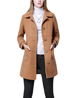 MFrannie - Single-Breasted Wool Trench Coat