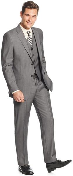 Lauren Ralph Lauren - Slim-Fit Mid-Grey Pindot Vested Suit