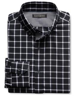 Banana Republic - Slim-Fit Non-Iron Check Oxford Shirt