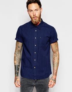Quiksilver  - Gingham Check Modern Fit Short Sleeve Shirt