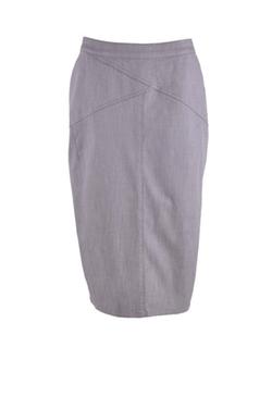 Style J  - Business Gray Denim Skirt