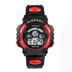 Kingfansion - Waterproof Boys Digital Sports Wrist Watch