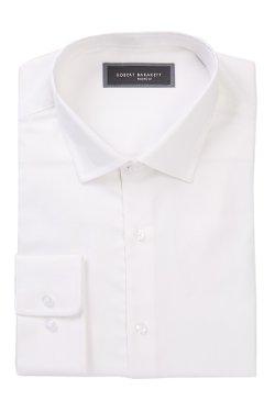 Robert Barakett  - Long Sleeve Solid Herringbone Shirt