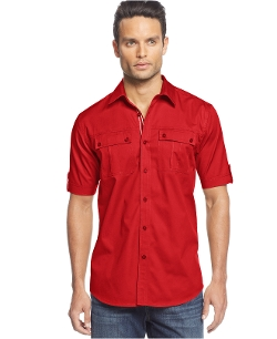 Sean John - Big & Tall Short Sleeve Twill Shirt