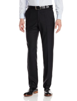 Kenneth Cole REACTION - Sharkskin Slim Fit Flat Front Pants