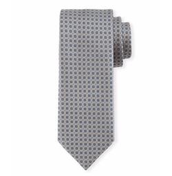 Brioni  - Textured Square-Print Silk Tie