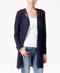 Style & Co.  - Lace-Trim Long Cardigan