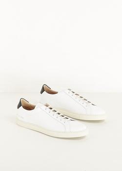 Common Projects  - White/Black Achilles Retro Low Sneaker