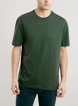 Top Man - Green Crew Neck T-Shirt