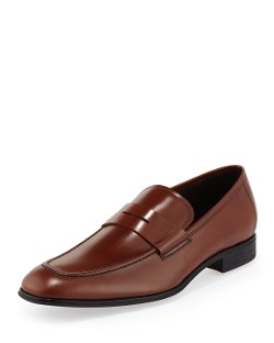 Salvatore Ferragamo	  - Rocco Leather Penny Loafers