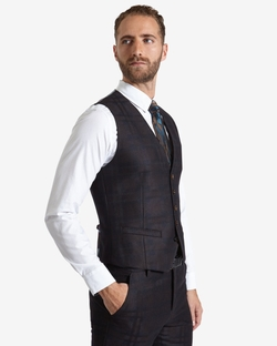 Ted Baker - Deluxe Checked Wool Waistcoat