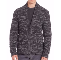 Vince  - Yak & Wool Blend Zippered Cardigan
