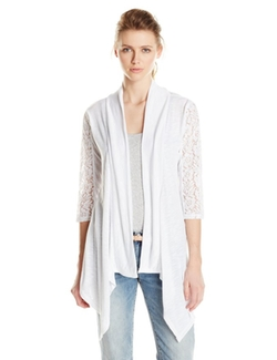Fresh - Lace Inset Cardigan