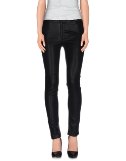 Black Lerock   - Leather Denim Pants