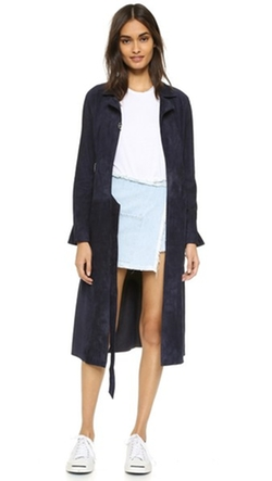 Sandy Liang - Suki Suede Trench Coat