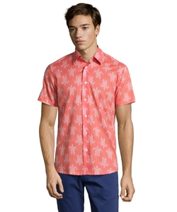 Report Collection - Salmon Turtle Print Shirt