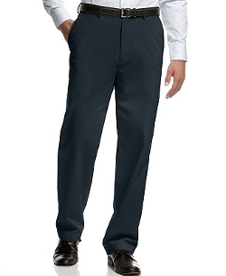 Haggar  - Flat-Front Classic-Fit Microfiber Performance Dress Pants