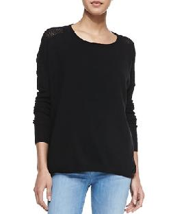 Vince  - Cashmere Perforated-Back Sweater, Favorite Tank & Riley Skinny Jeans