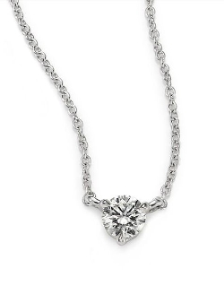 Kwiat  - Small Solitaire Pendant Necklace