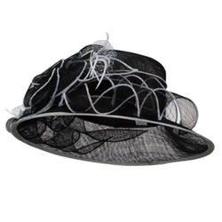 Jeanne Simmons - Flower Netting Detail Sinamay Hat