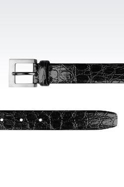 Giorgio Armani - Belt In Croc Print Calfskin